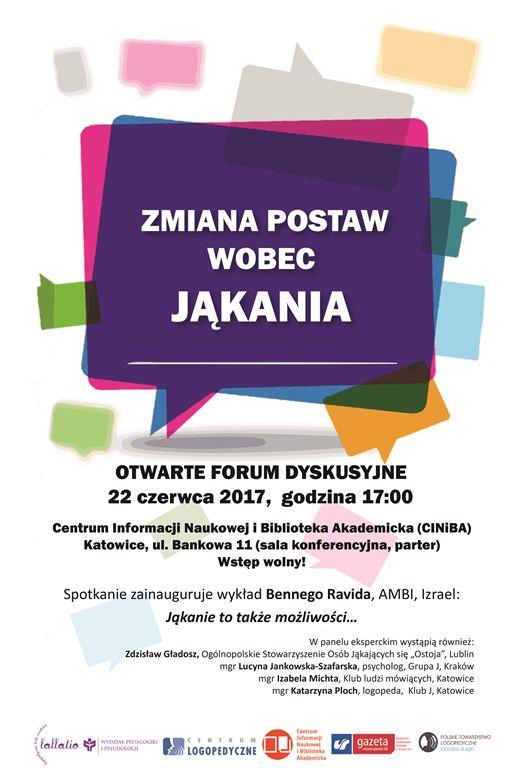 Plakat forum dyskusyjnego