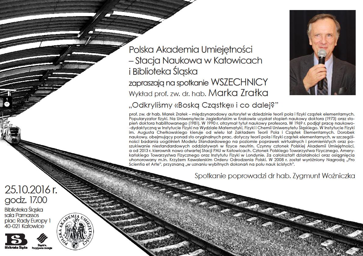 Plakat promujący październikowe spotkanie w ramach Wszechnicy PAU