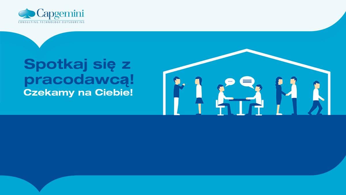 Plakat promujący spotkanie z firmą Capgemini