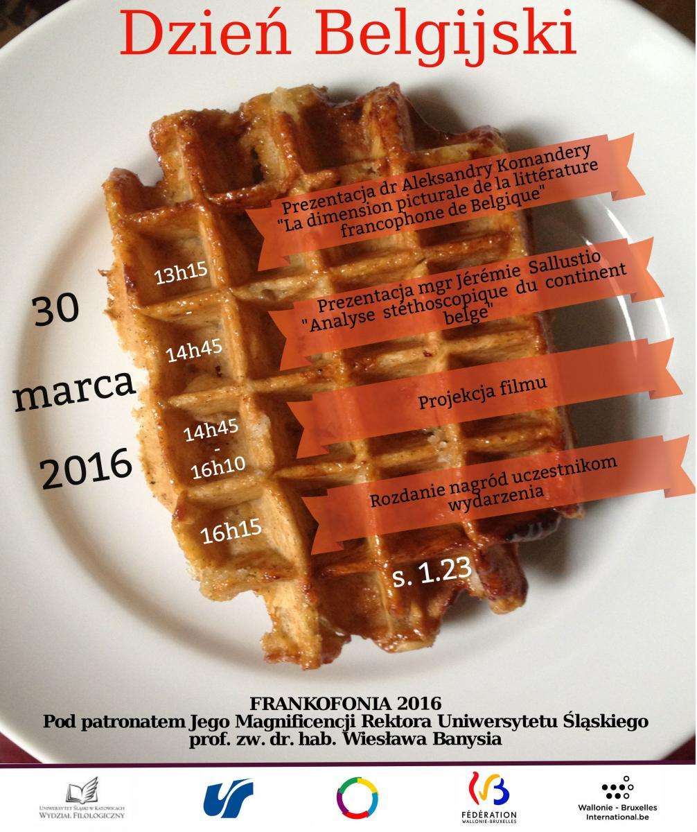 plakat promujący dzien belgijski 2016