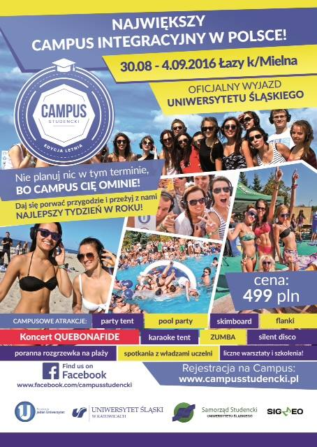 Plakat promujący Campus Studencki 2016