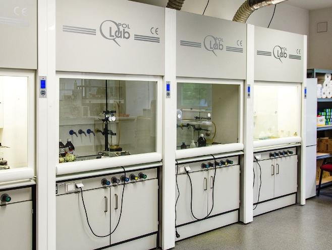 Pracownia badawcza Zakładu Chemii Organicznej w Centrum Nauk Stosowanych w Chorzowie