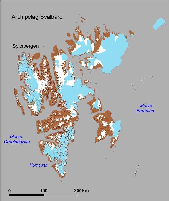 Mapa Svalbardu
