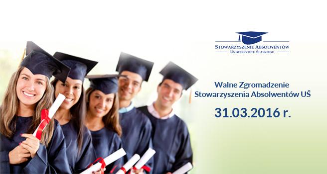 Plakat promujący stowarzyszenie absolwentów UŚ