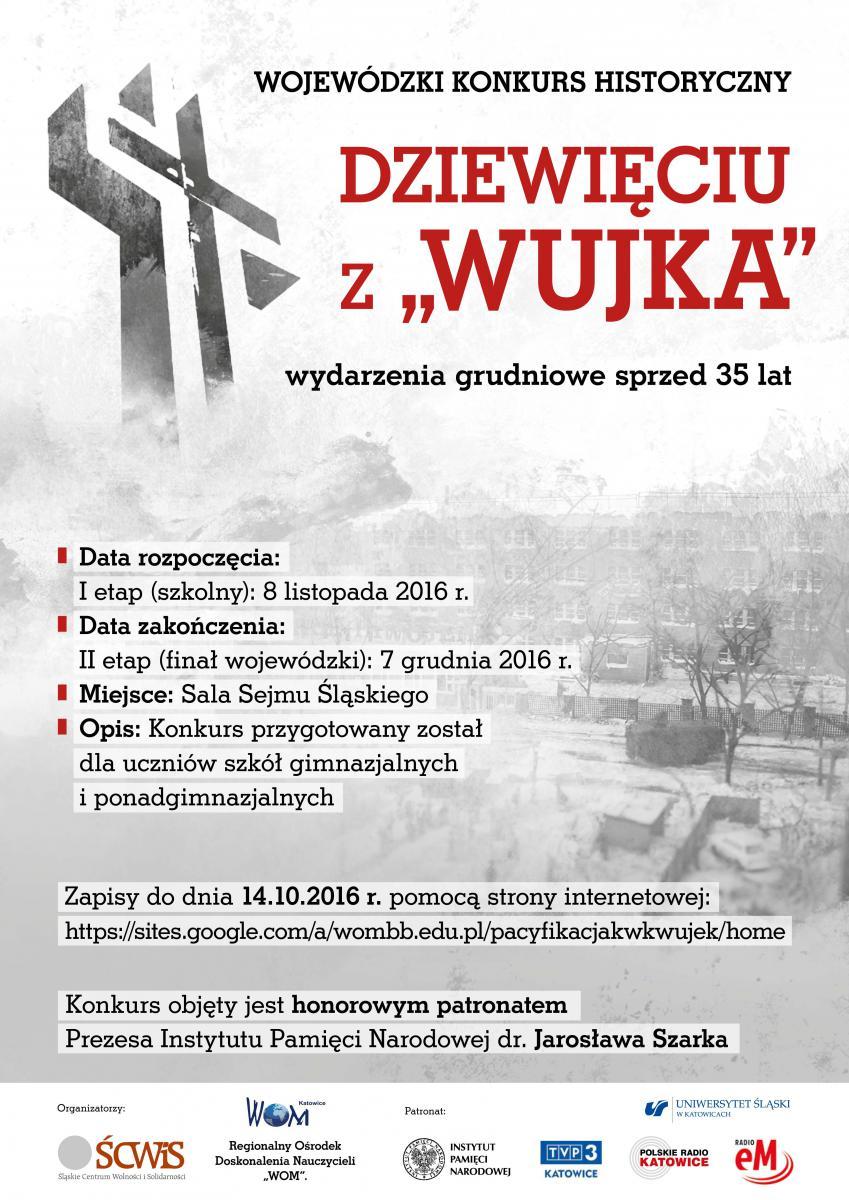 Plakat reklamujący konkurs wiedzy historycznej