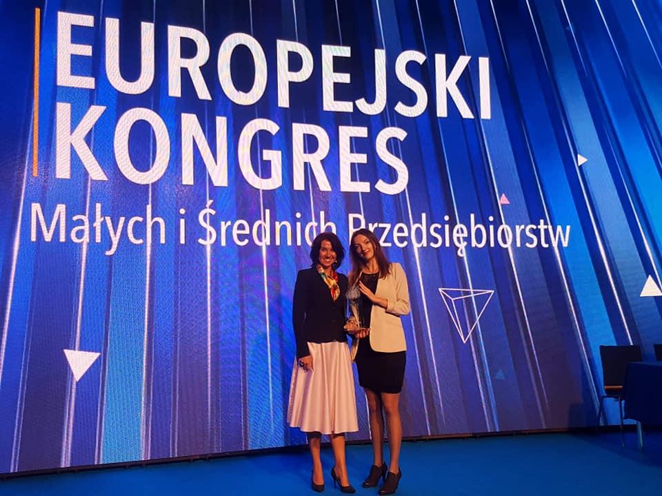 Nagrodę odebrała prezes SPIN-US Katarzyna Papież-Pawełczak