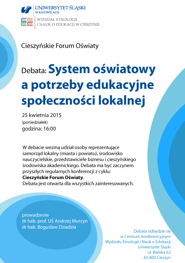 grafika: plakat promujący debate