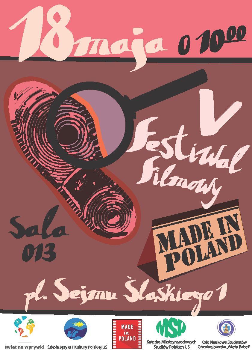 Plakat promujący 5. edycję festiwalu filmowego Made in Poland
