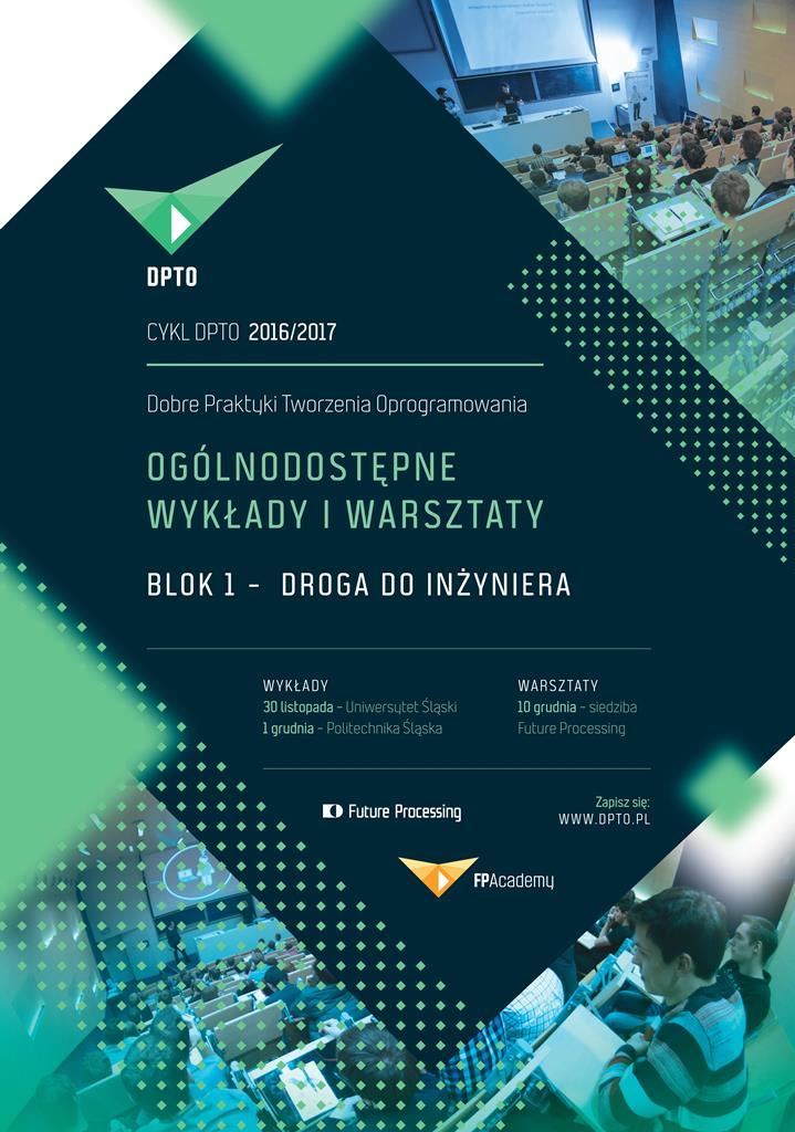 Plakat promujący wykłady i warsztaty