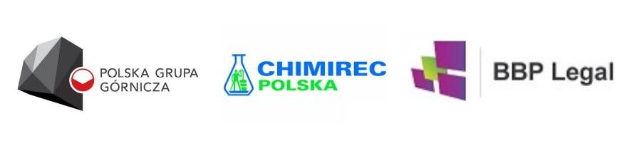 Logotypy trzech firm
