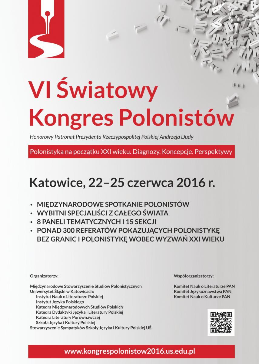 Plakat promujący VI Światowy Kongres Polonistów