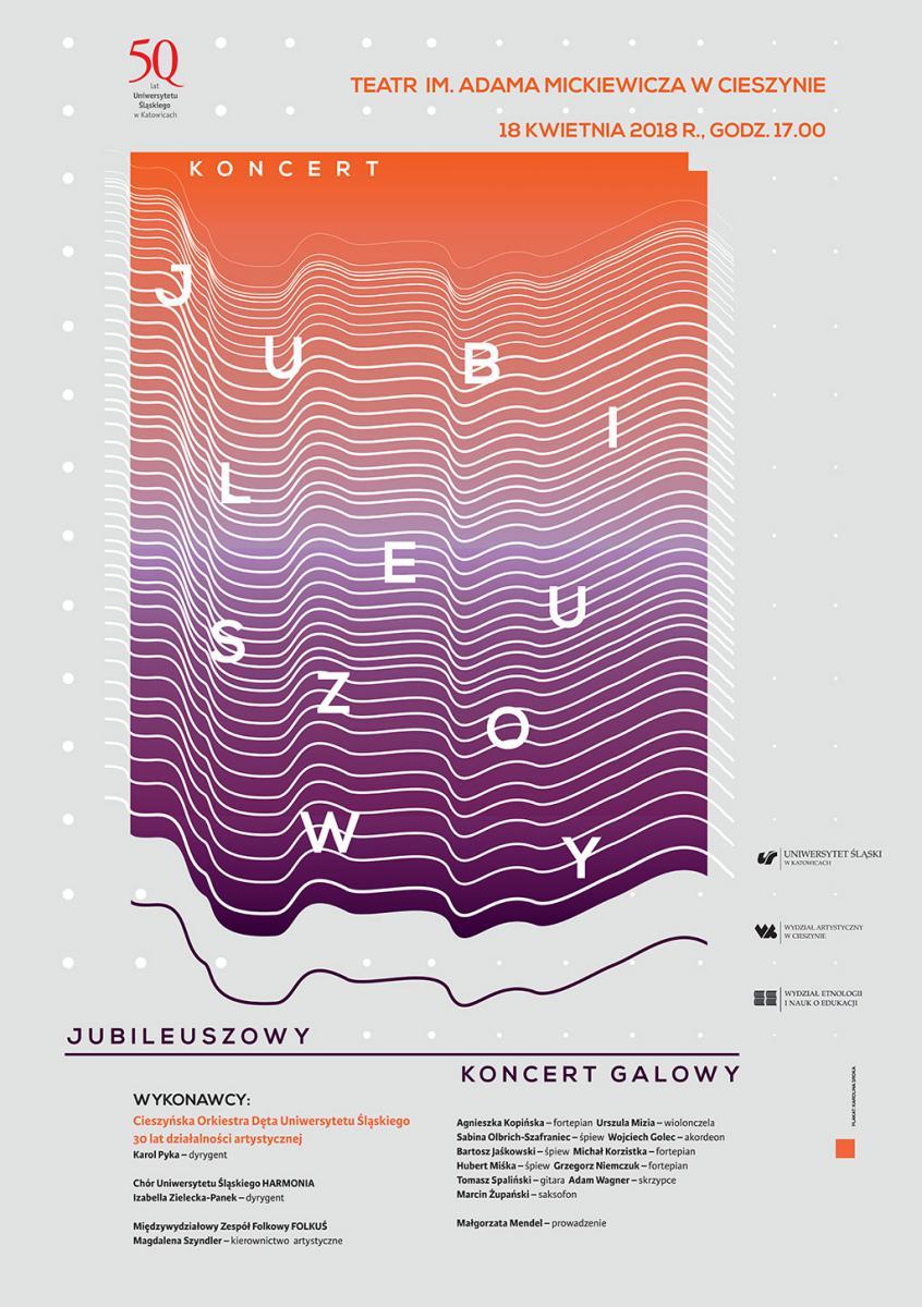 Plakat jubileuszowego koncertu galowego