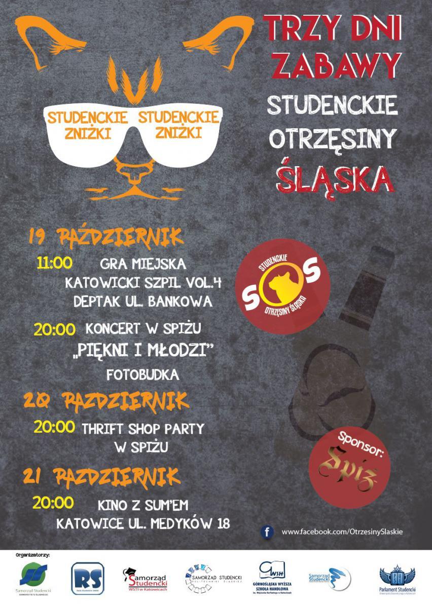 Plakat promujący studenckie otrzęsiny