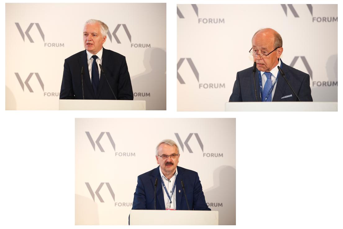 Trzy zdjęcia przemawiających mężczyzn