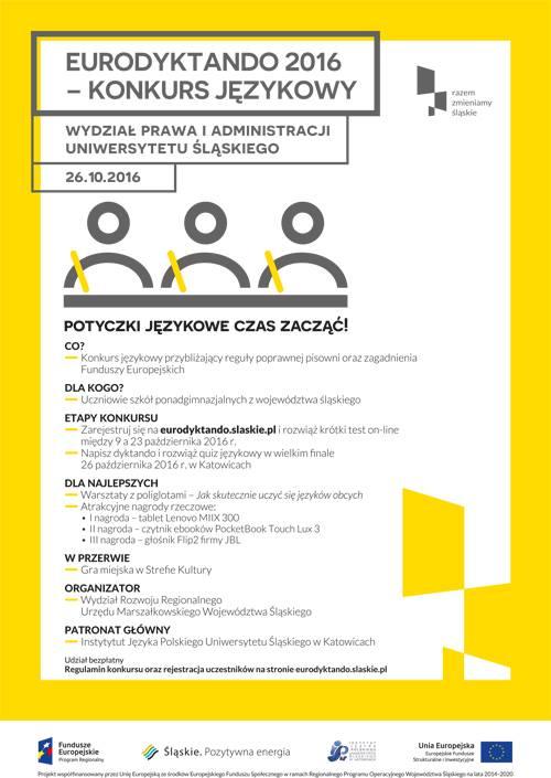 Plaka promujący Eurodyktando 2016