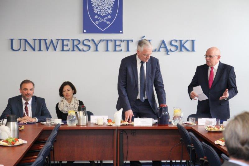 Spotkanie dr. Jarosława Gowina z członkami RKRUA w rektoracie UŚ
