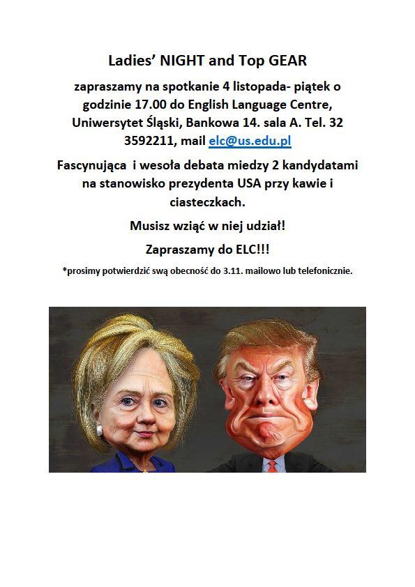 """Plakat promujący spotkanie """"English & Tea"""" w listopadzie 2016 roku"""