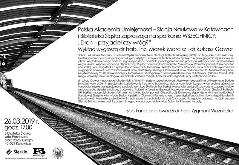 Plakat zawierający szczegółowe informacje oraz sylwetki prelegentów