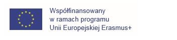 Logo UE, tekst: współfinansowany w ramach programu Unii Europejskiej Erasmus+