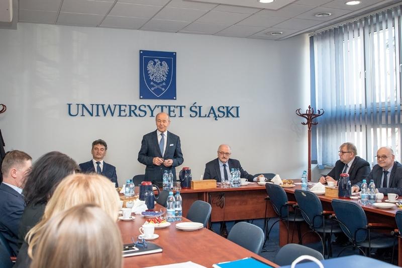 Pierwsze posiedzenie Rady Uniwersytetu Śląskiego