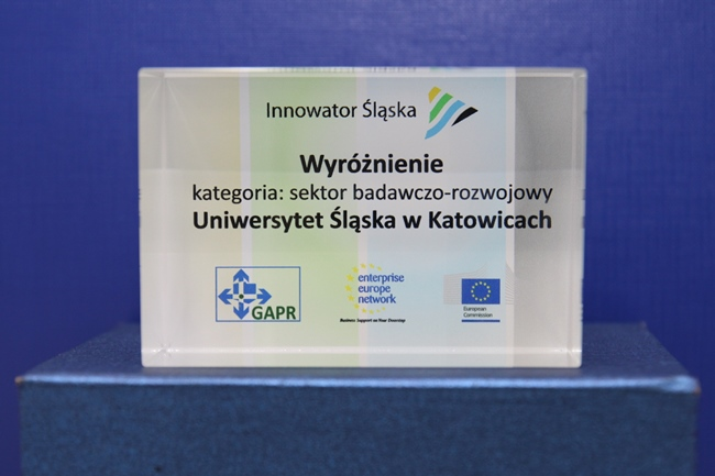 Statuetka Innowator Śląska 2015
