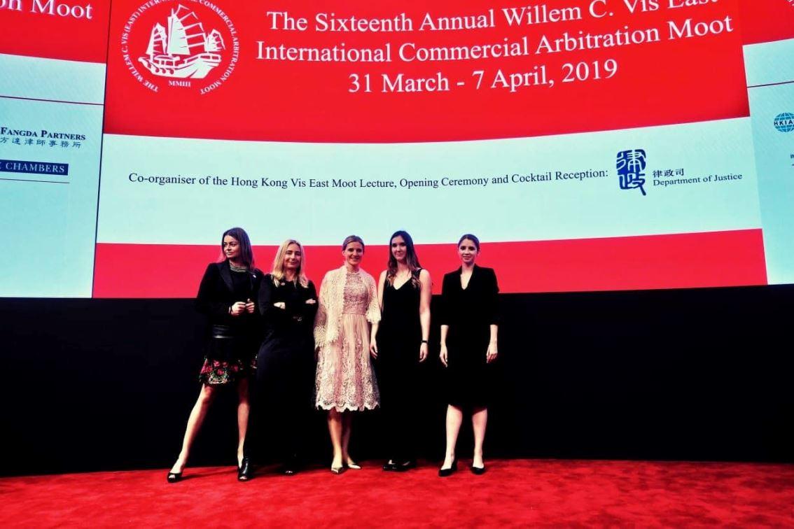 Od lewej: Magdalena Stryja, prof dr hab.Ewa Rott-Pietrzyk, dr Małgorzata Pohl-Michałek, Agata Zwolankiewicz, Olga Marcinkowska