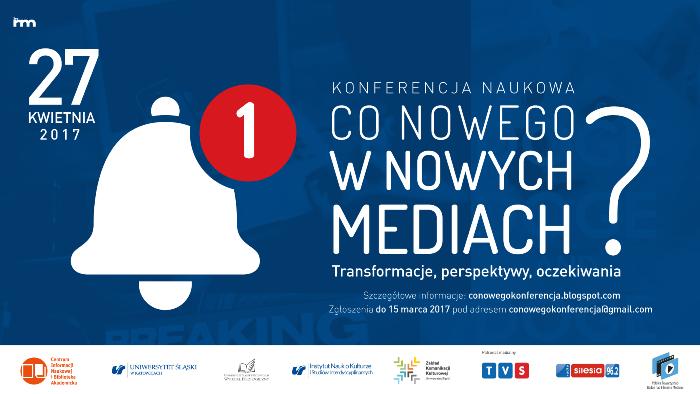 Plakat konferencji z datą, tytułem oraz obrazkiem białego dzwonka