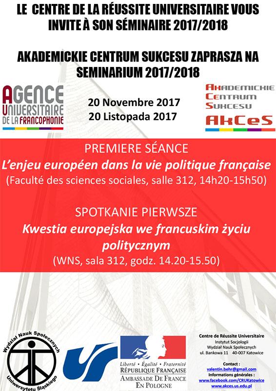 Plakat informujący o seminarium organizowanym przez AkCeS