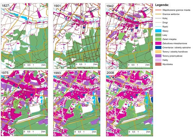 Rozwój morfologiczno-przestrzenny okolic śródmieścia Katowic