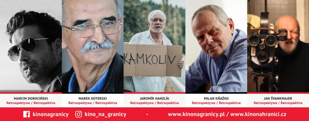 Na zdjeciach portretowych: Marcin Dorociński, Marek Koterski, Jaromír Hanzlík, Milan Kňažko, Jan Švankmajer