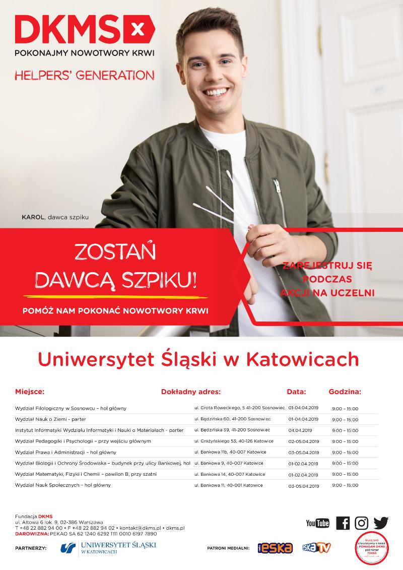 Plakat promujacy akcję
