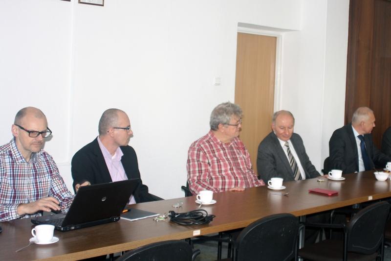 Uczestnicy spotkania zgromadzeni w sali Instytutu Matematyki