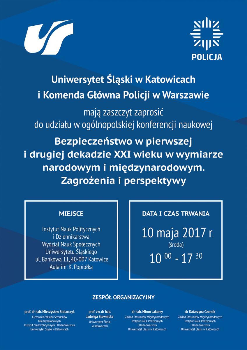 Plakat promujący konferencję zawierający jej tytuł i miejsce oraz godziny, w jakich będzie się odbywało wydarzenie