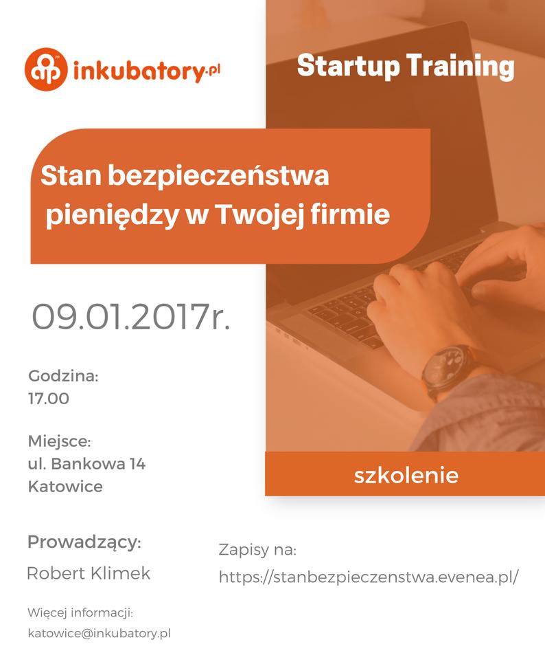 Plakat z informacjami na temat szkolenia
