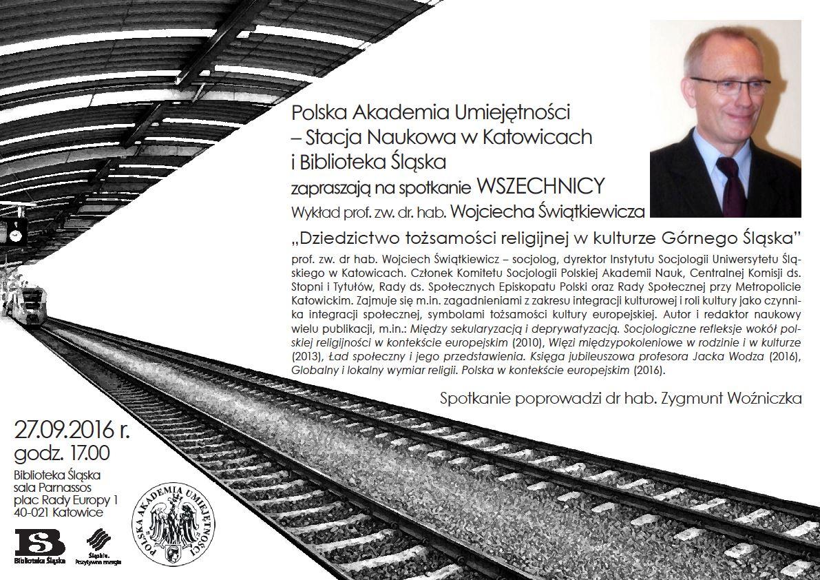 Plakat promujący spotkanie Wszechnicy PAU