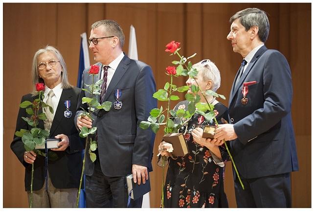 Uroczystość wręczenia odznaczeń Zasłużony Kulturze Gloria Artis, m.in. prof. Marian Kisiel