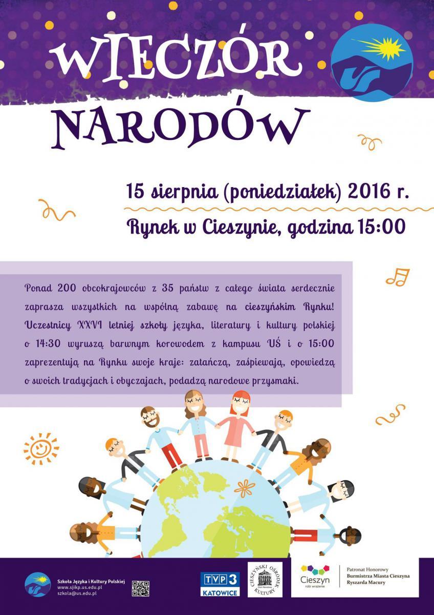 Plakat promujący Wieczór Narodów 2016
