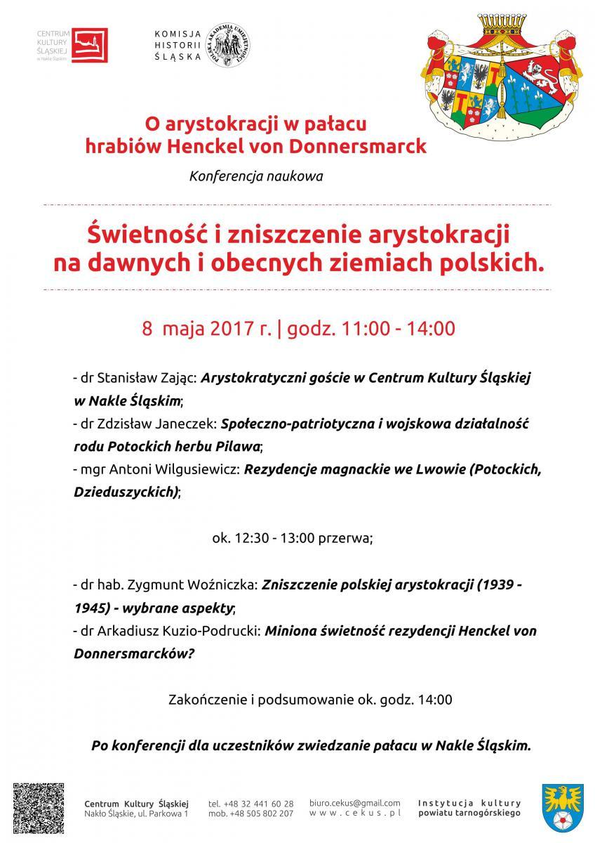 plakat promujący konferencję zawierający szczegółowy program spotkania