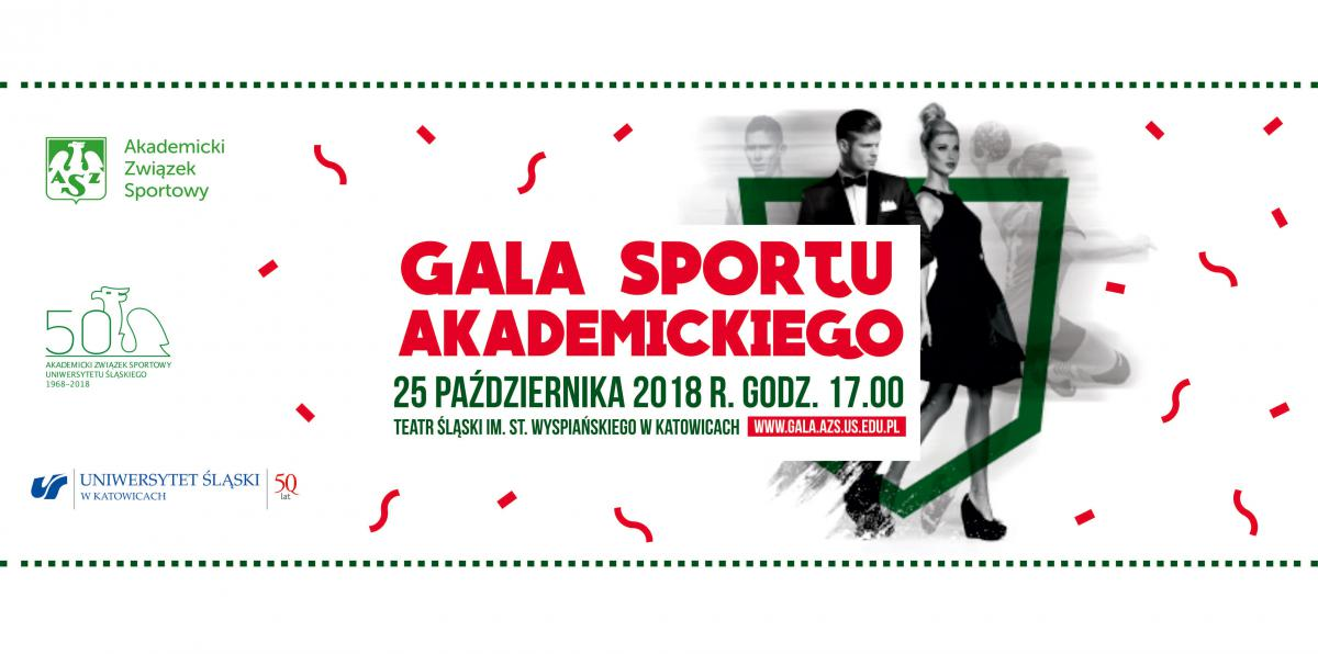 Plakat promujący galę sportu akademickiego