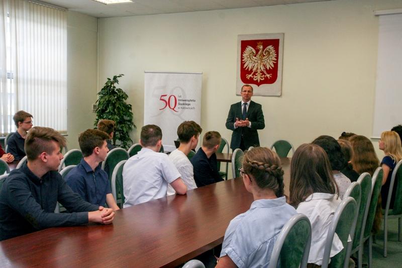 Wykład okolicznościowy wygłosił dr hab. prof. UŚ Rafał Blicharz