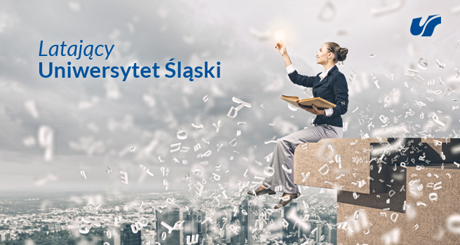 Grafika promująca projekt Latający Uniwersytet Śląski