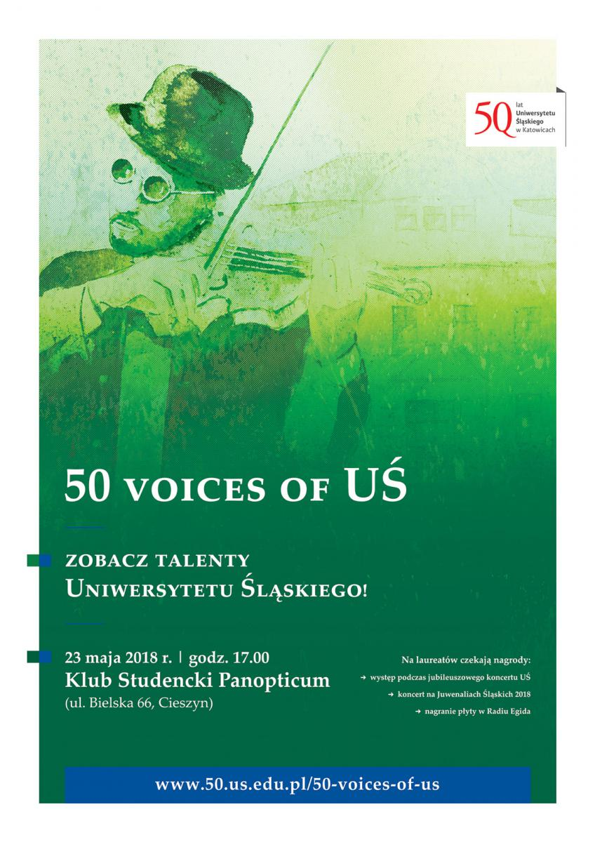 Plakat promujący koncert w Cieszynie