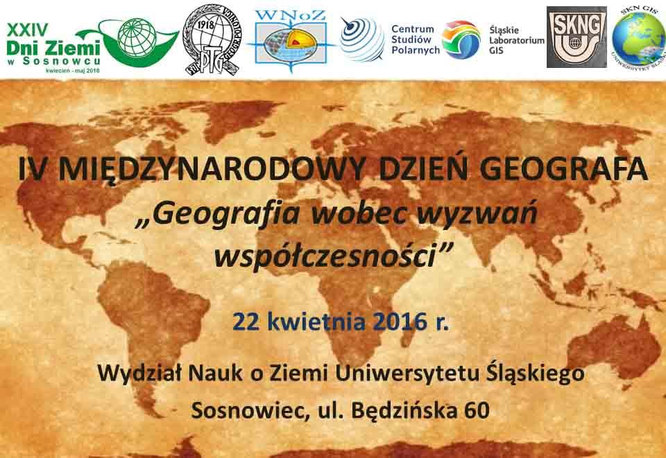 Grafika: plakat wydarzenia z mapą świata