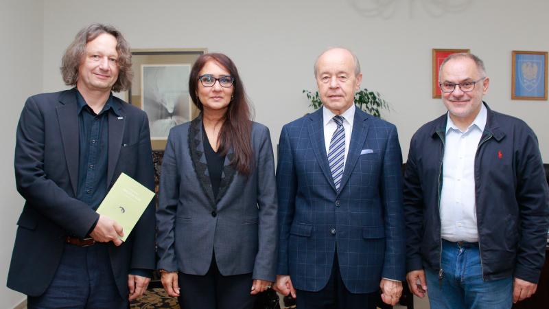Uczestnicy spotkania w rektoracie Uniwersytetu Śląskiego