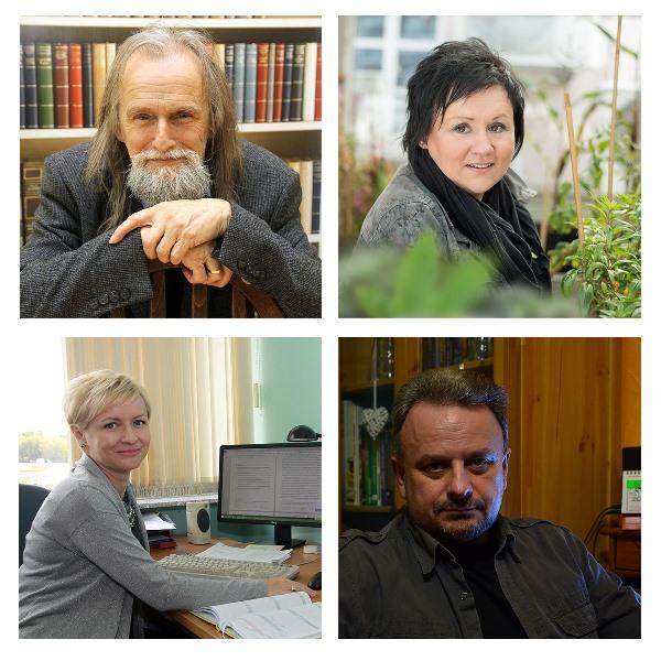 cztery zdjęcia: prof. zw. dr hab. Tadeusz Sławek, dr hab. Edyta Sierka, dr hab. Magdalena Habdas oraz dr inż. Roman Simiński