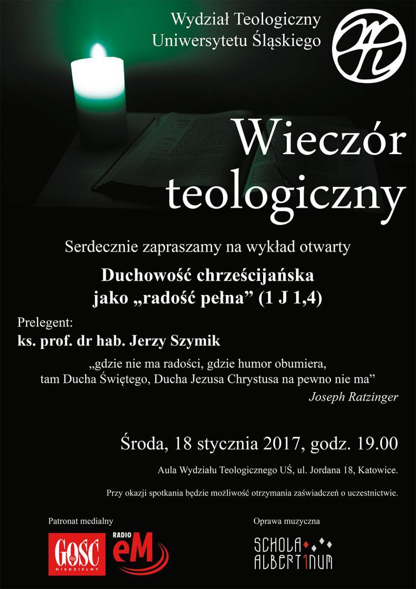 Plakat promujący 16. edycję Wieczoru Teologicznego