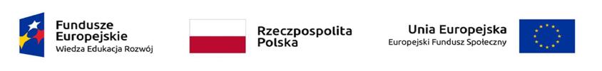 Logo Fundusze Europejskie. Wiedza. Edukacja. Rozwój oraz flaga Polski oraz Unii Europejskiej