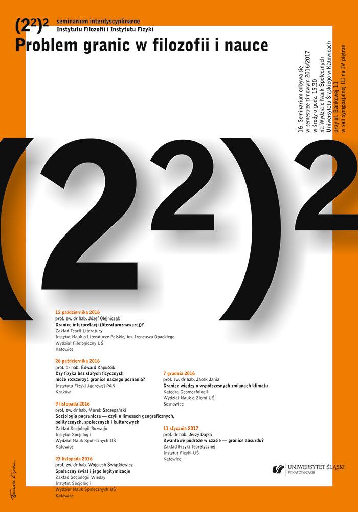 Plakat dotyczący seminarium (program zamieszczony został powyżej w pliku pdf )