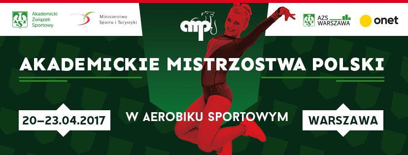 Plakat Akademickich Mistrzostw Polski w aerobiku sportowym