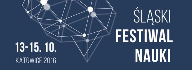 Znak graficzny Śląskiego Festiwalu Nauki